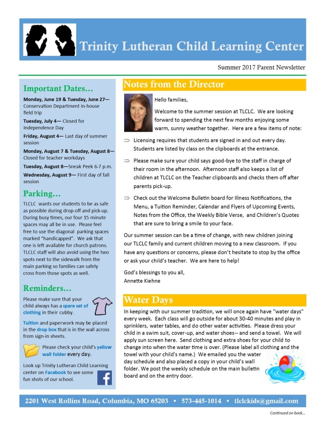 Summer 2017 Newsletter pg1
