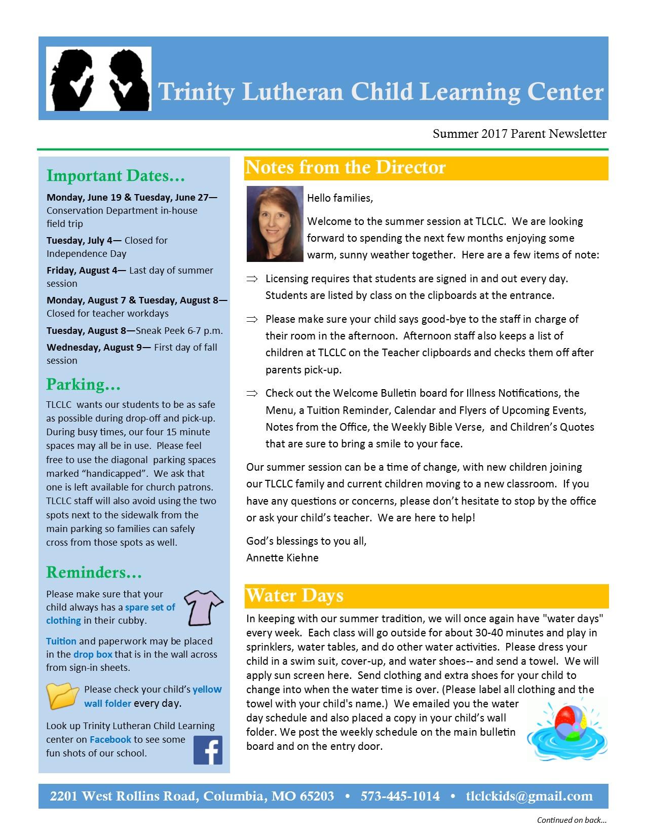 Summer 2017 Newsletter Pg1