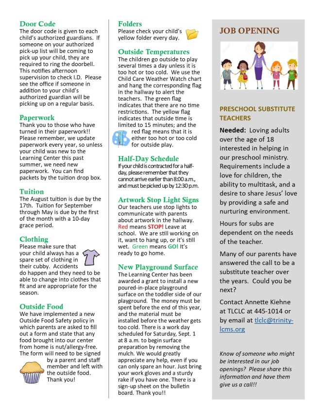 Aug 2018 Newsletter pg 2